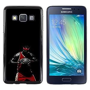 iKiki Tech / Estuche rígido - Negro Baloncesto - Samsung Galaxy A3