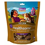Halo Healthsome Holistic Grain Free Dog Treats - Peanut 'N Pumpkin - 8 OZ of Vegan Natural Dog Treats