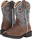 Roper Toddler-Boys' Daniel Distressed Saddle Vamp Cowboy Boot Square Toe Brown 5 D
