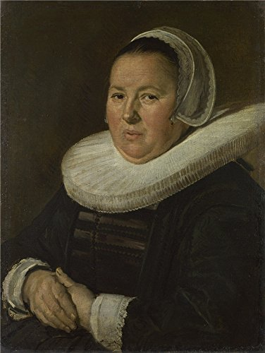 Oil Painting 'Frans Hals Portrait Of A Middle Aged Woman With Hands Folded ' Printing On High Quality Polyster Canvas , 16 X 21 Inch / 41 X 54 Cm ,the Best Garage Gallery Art And Home Gallery Art And Gifts Is This Beautiful Art Decorative Canvas (Dead Money Snow Globe)