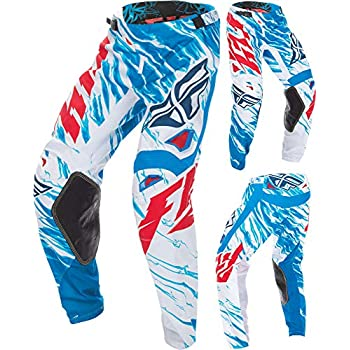Fly Racing Unisex-Adult Kinetic Relapse Pants Lime//Blue, Size 24