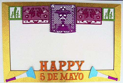 Frame Mexican Party and Photo Booth Party Props/ Marco Fiesta mexicana y apoyos para cabina de fotos -