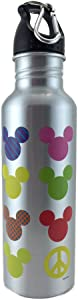 Disney - Colorful Neon Mickey Mouse Water Bottle - Wide Mouth