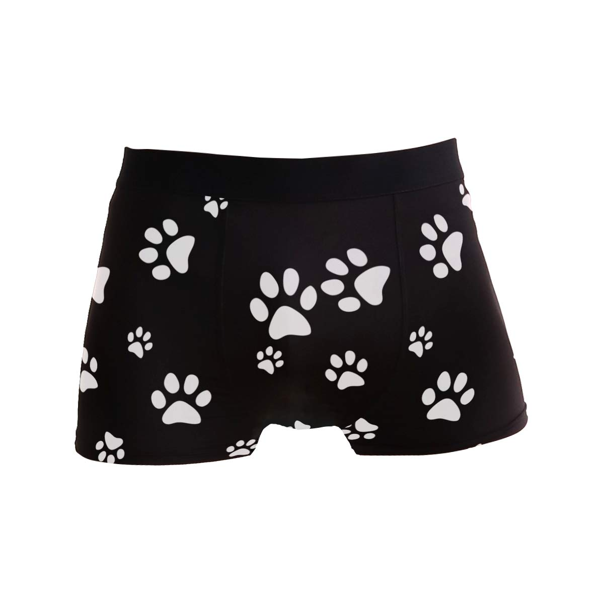 BETTKEN Mens Boxer Briefs Animal Puppy Dog Paw Print Short Underwear Soft Stretch Underpants for Men Boys S-XL