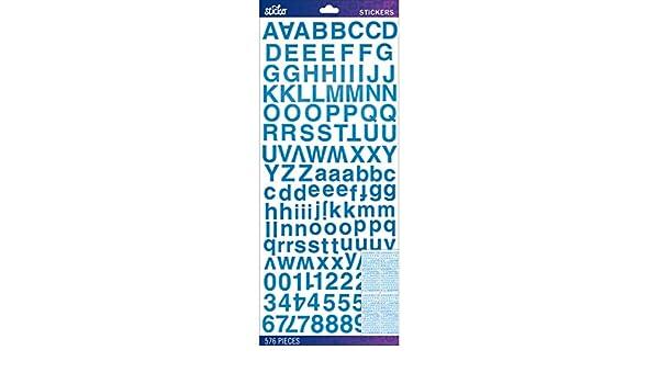 Sticko Pegatinas de Alfabeto Color Azul