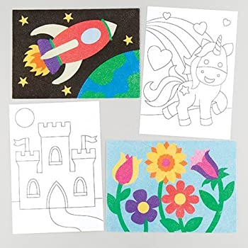 Baker Ross Sand & Glitter Art Pictures for Children to Make - Creative Crafts for Kids (Pack of 8)