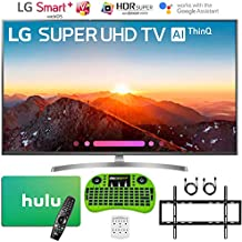 """LG 4K HDR Smart LED AI Super UHD TV with ThinQ (2018 Model) + Free Hulu $25 Gift Card + Flat Wall Mount Kit Ultimate Bundle + More (55"""" SK8000)"""