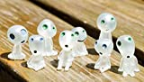 8 Pcs Princess Mononoke Tree Elves Spirit Potted Decoration Micro Landscape Accessories