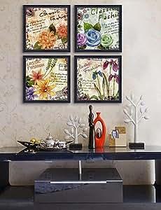 Reino Unido enmarcado Arte de la lona, enmarcado de la flor de Lienzo jadella impresión 4