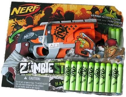 Amazon.com: Nerf Zombie Strike Hammershot Blaster Bundle ...