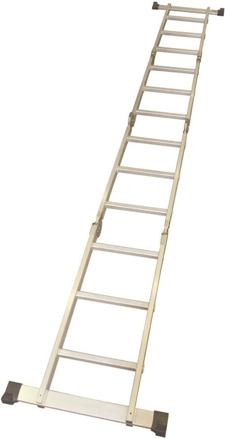 Escalera de 4 tramos plegable con función plataforma (3 peldaños por tramo, 98 x 38 x 28 cm plegada): Amazon.es: Electrónica