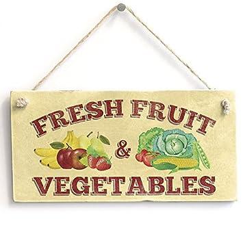Amazon.com: Funny placa regalo fruta fresca y verduras ...