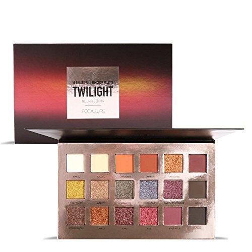FOCALLURE Fashion Twilight 18 Colors Glitter Matallic Eyeshadow Palette Matte Shimmer Eye Shadow Makeup Palette