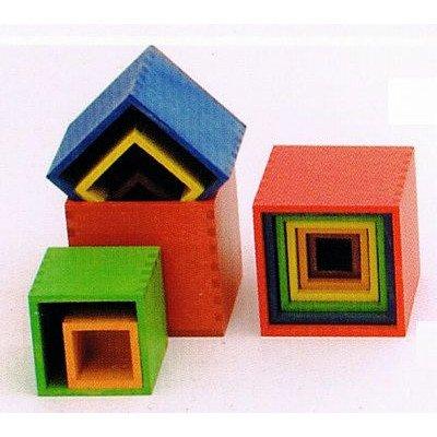 ミニ箱積木 カラー B00G33RGSM 木のおもちゃ B00G33RGSM, 大和文庫:d6ba1c2f --- lindauprogress.se