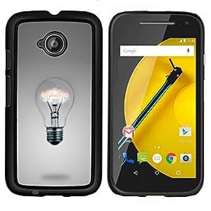 For Motorola Moto E2 E2nd Gen Case , Ideas de la bombilla- Diseño Patrón Teléfono Caso Cubierta Case Bumper Duro Protección Case Cover Funda