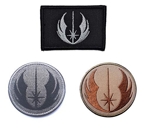Antrix 3 Pack Tactical Star War Jedi Order Galactic Republic Morale Patch Hook and Loop Fastener Star War Jedi Order Galactic Republic Military Applique Emblem Patch