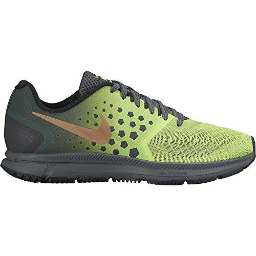 Nike-Mens-Zoom-Span-Shield-Dark-GreyMtlc-Red-BronzeVolt-Running-Shoe-115-Men-US