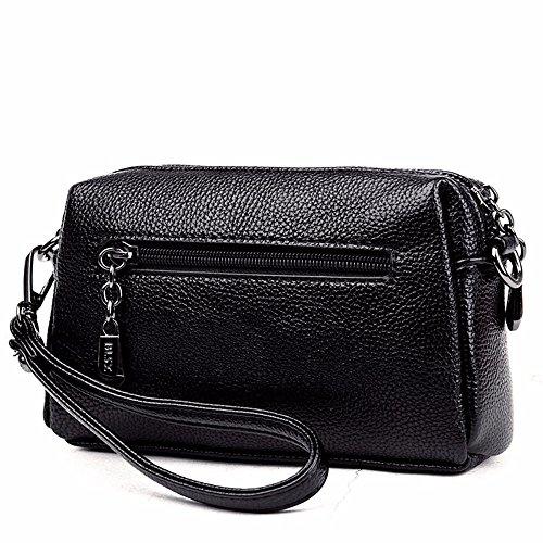 summer femmes style Black 13 20 cm sac nouveau black sac coursier groupe sac de mobile de pochette sac 7 petites rrBnp