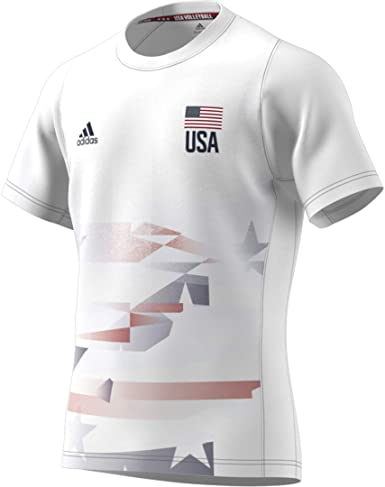 adidas USA Volleyball Primeblue Replica tee Camisa Hombre ...