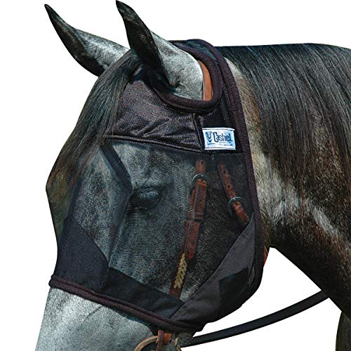 Cashel Quiet Ride Horse Fly Mask, Standard, Horse