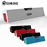 Eachine Bar Portable Bluetooth Wireless Speaker with Built in 2200mAh Battery, Alarm Clock, FM Radio and Microphone (Black)