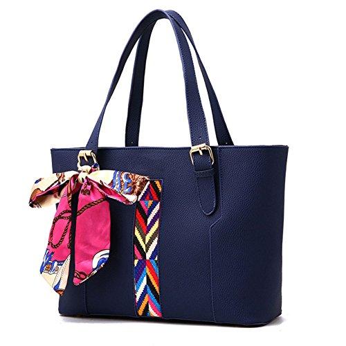 Bolso De Mano Bandolera Mensajero Multifunción Bolso Mujer Tote Large Capacity Mujeres Shoulder Messenger Ribbon Bag Mujeres Royalblue