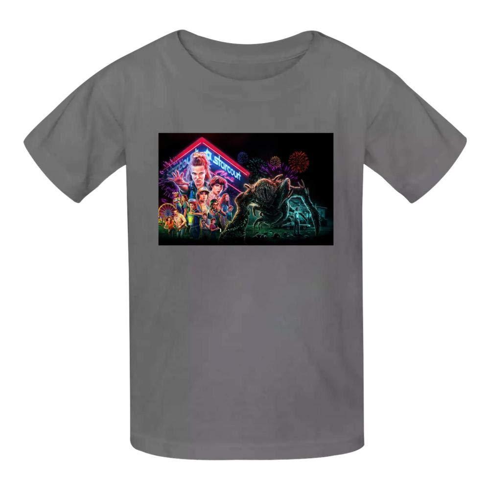 NJLLOS Stranger Things Kid//Youth T-Shirts 3D Casual Short Sleeve O-Neck Tees