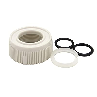 Dura Faucet DF-RK510-WT RV Faucet Spout Nut and Rings Replacement Kit (White): Automotive