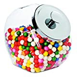 Office Settings OSISJ02 Penny Candy Display Container, Glass Jar, Metal, Chrome, 1/Carton, 4 quart