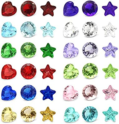 Glass Birthstones Floating Charms Round Crystal 5mm Set of 12 for Memory Lockets /…