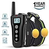 Training Dog Collar - BOOCOSA Dog Training Collar-Remote Rechargeable Shock Collar for Dogs, Waterproof Electric Shock Collar with Beep Vibration Shock for Small Medium Large Dogs