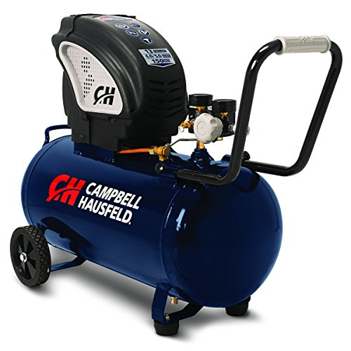 Air Compressor, Portable, 13 Gallon Tank, Horizontal Tank, Oil Free (Campbell Hausfeld DC130010)