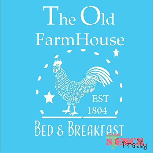 The Old Farmhouse Bed & Breakfast Rooster Decor Stencil - M (10