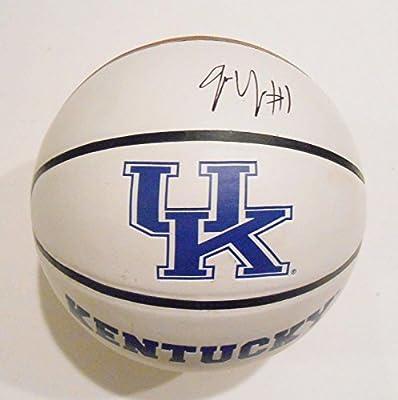 James Young Signed Kentucky Wildcats Logo Basketball w/COA - Autographed College Basketballs