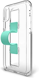 BodyGuardz - SlideVue Case Compatible w/Apple iPhone X/Xs, Extreme Impact and Scratch Protection - iPhone X/Xs (Mint)