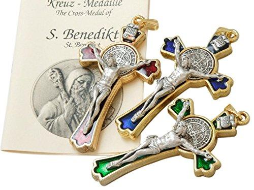S, Benedetto-croce colore argento * Colori assortiti in cello busta* Geschenke Direkt