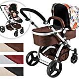 Infantastic® - KBKW01 - Cochecito de bebé combinado 2 en 1 - Happy flower - Cochecito de bebé y silla de paseo - Diferentes colores a elegir