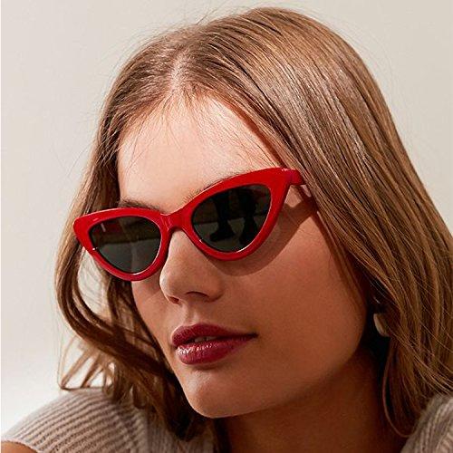 niñas Cobain para Cuadro Gafas ojo Kurt gato Rojo de ADEWU de mujeres de sol protección gafas de vintage Gafas retro estilo Lente de sol Humo zRFqv