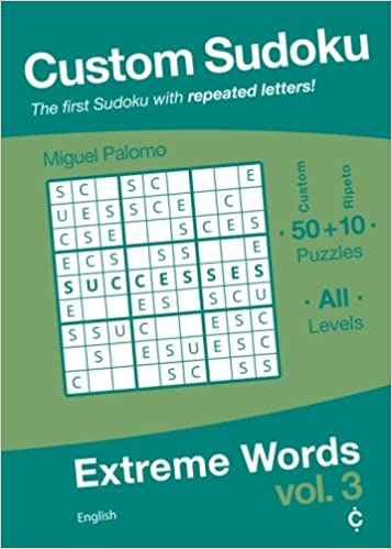 custom sudoku extreme words english volume 3 miguel palomo