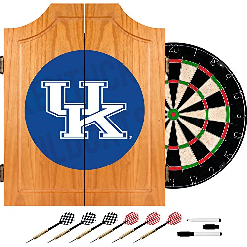 Trademark Gameroom University of Kentucky Wood Dart Cabinet Set - Wordmark by Trademark Gameroom