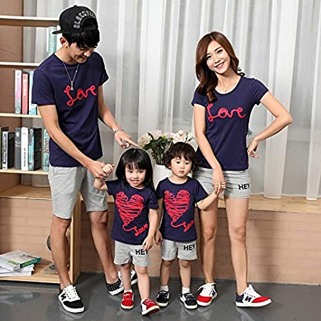 c5d29e62a275f Family Matching Outfits Couples Clothes Mother Father Baby Summer ...