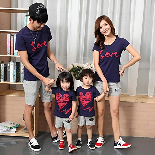 c5d1c778276 Family Matching Outfits Couples Clothes Mother Father Baby Summer Short  Sleeve T-Shirt Manufacturers Wholesale 2018   Navy Blue Tshirt