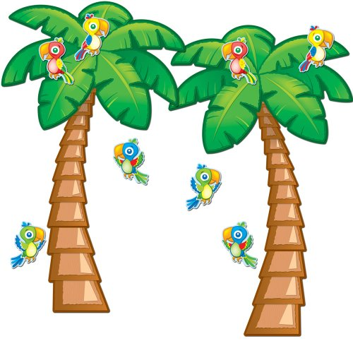 Carson Dellosa Tropical Trees Bulletin Board Set (110159) ()