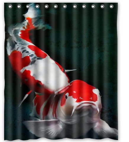 Standard-Store Custom Japanese Koi Fish Shower Curtain 60