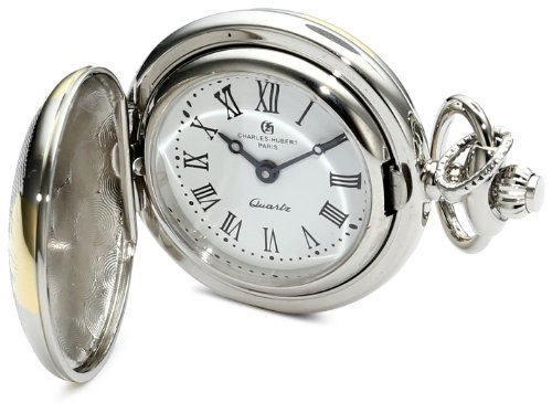Charles-Hubert, Paris 6817 Classic Collection Two-Tone Finish Brass Quartz Pendant Pocket Watch
