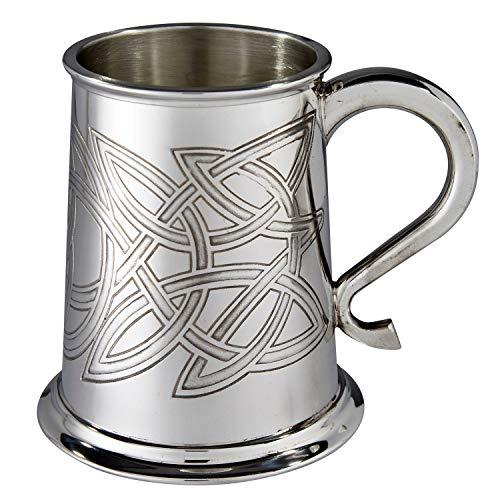 Wentworth Pewter Skye Celtic Knot Pewter tankard, Beer Mug, Christmas Gift ()