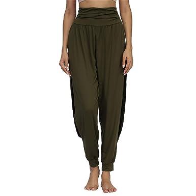 009cc34485dc7 Women Fitness Yoga Pants Quick Drying Sports Pant Women's Side Slit Wide  Leg Solid Soft Elastic