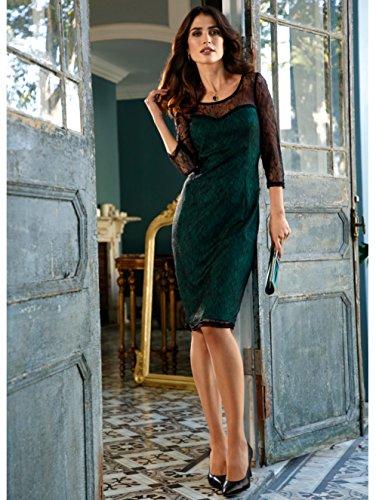 Damen by Grün Hautfreundlich mit KLiNGEL Spitzenkleid Bustieroptik A1fAqd