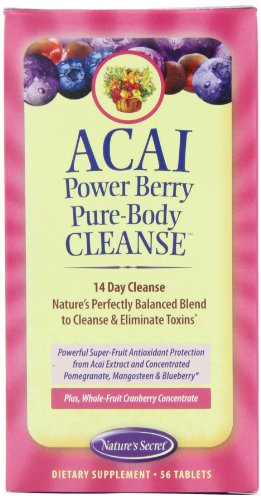 Nature's Secret Acai Power Berry Pure Body Cleanse Tablets, 56-Count Box