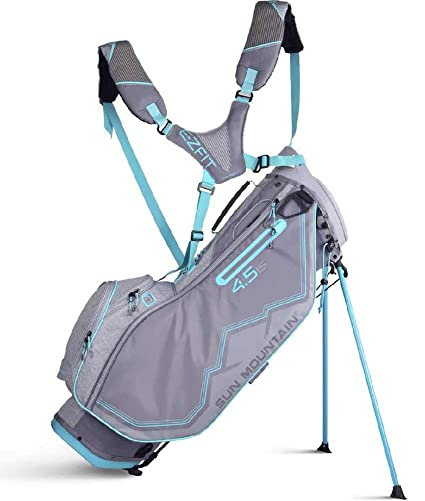 ae08b33be5 Amazon.com : Sun Mountain 2019 Womens 4.5 Ls Stand Bag Grey/Blue ...